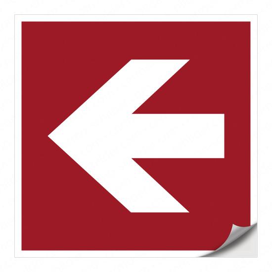 Richtungspfeil für Brandschutzzeichen (nach links)
