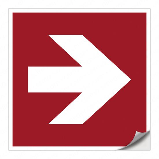 Richtungspfeil für Brandschutzzeichen (nach rechts)