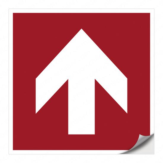 Richtungspfeil für Brandschutzzeichen (oben)