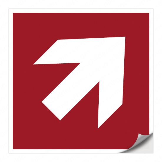 Richtungspfeil für Brandschutzzeichen (rechts aufwärts)