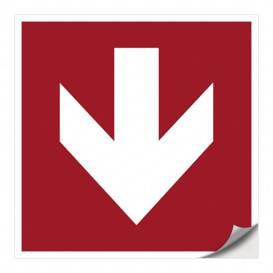Richtungspfeil für Brandschutzzeichen (unten)