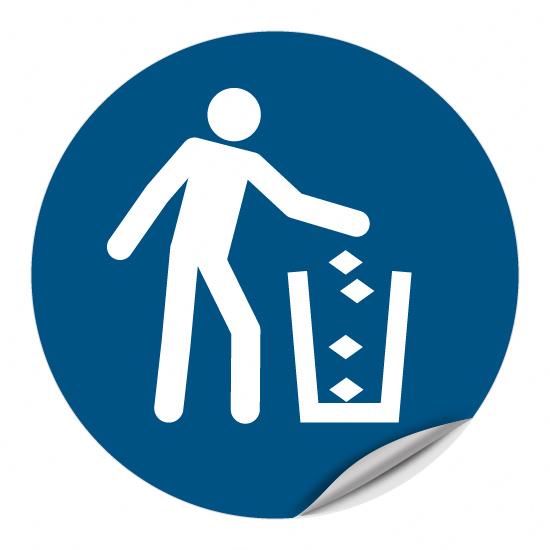 Abfallbehälter benutzen M030