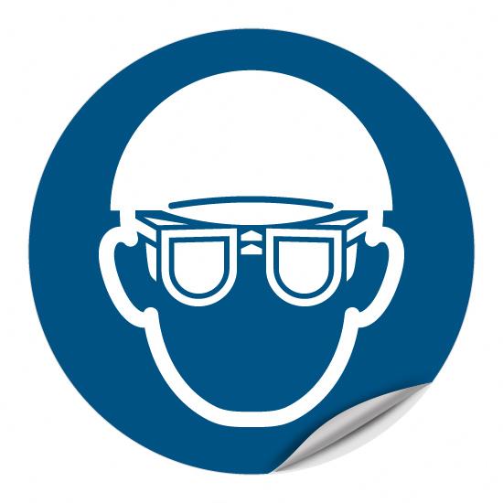 Augen- und Kopfschutz benutzen