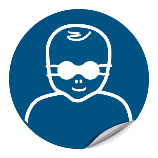 Kleinkinder durch weitgehend lichtundurchlässige Augenabschirmung schützen M025
