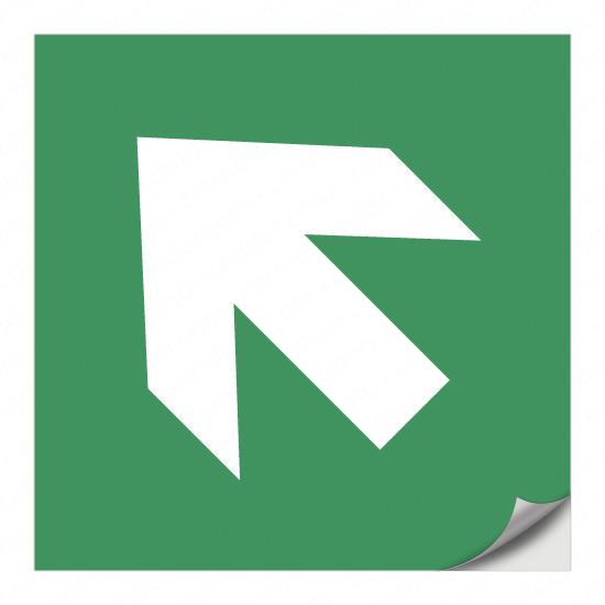Richtungspfeil für Rettungszeichen (links aufwärts)