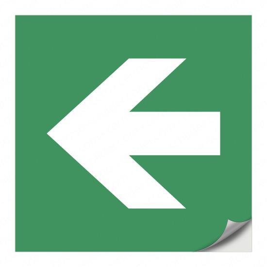 Richtungspfeil für Rettungszeichen (nach links)