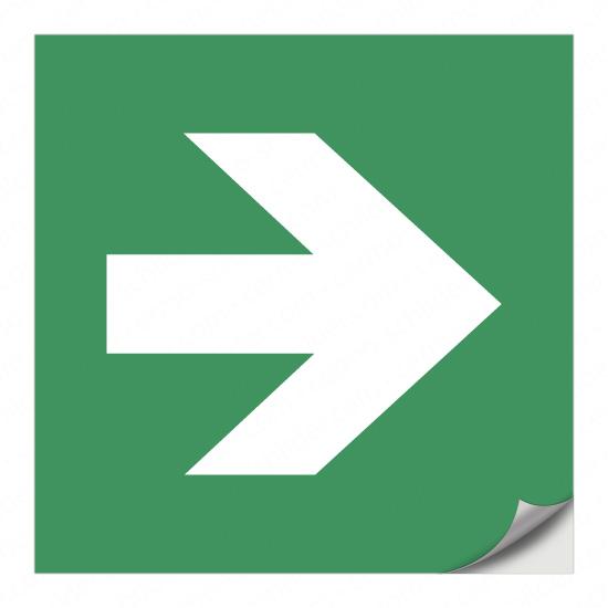 Richtungspfeil für Rettungszeichen (nach rechts)