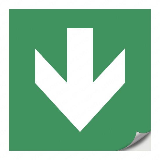 Richtungspfeil für Rettungszeichen (nach unten)