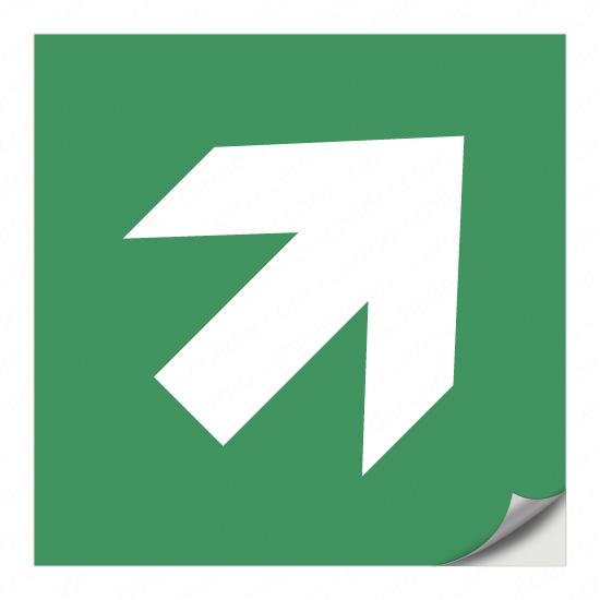 Richtungspfeil für Rettungszeichen (rechts aufwärts)