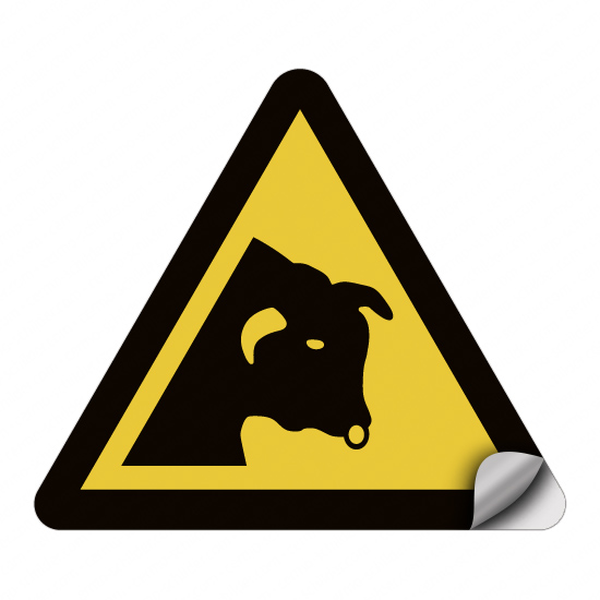 Warnen vor Stieren W034
