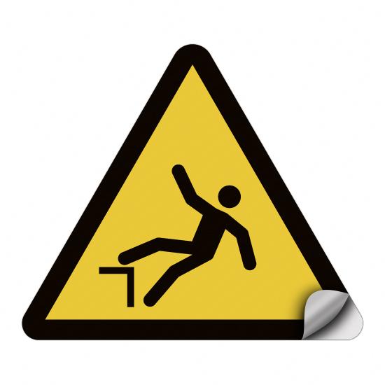 Warnung vor Absturzgefahr W008