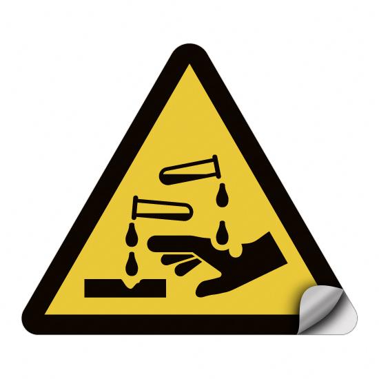 Warnung vor ätzenden Stoffen W023