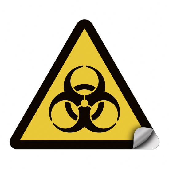 Warnung vor Biogefährdung W009