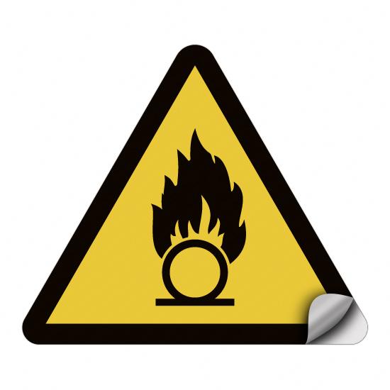 Warnung vor brandfördernden Stoffen W028