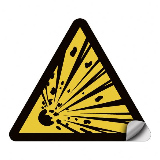 Warnung vor explosionsgefährlichen Stoffen W002