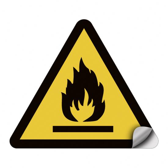 Warnung vor feuergefährlichen Stoffen W021
