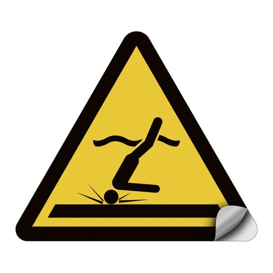 Warnung vor flachem Wasser (Kopfsprung) WSW006