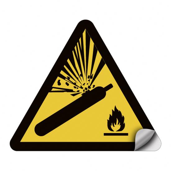 Warnung vor Gasflaschen W029