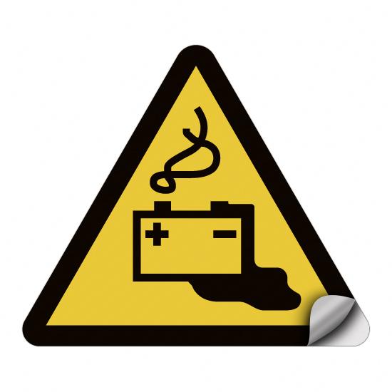 Warnung vor Gefahren durch das Aufladen von Batterien W026