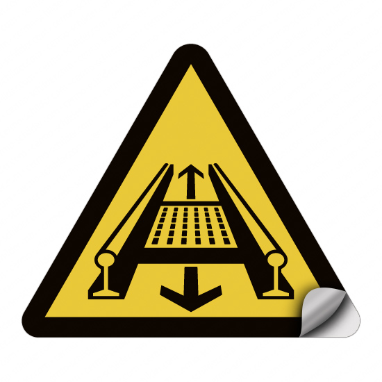 Warnung vor Gefahren durch eine Förderanlage im Gleis D-W029