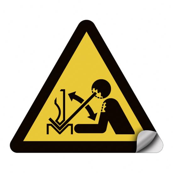 Warnung vor hochschnellendem Werkstück in einer Presse W032