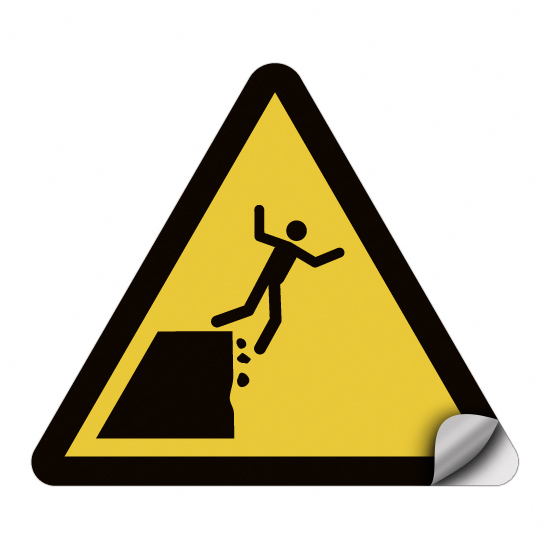 Warnung vor instabiler Klippenkante WSW10