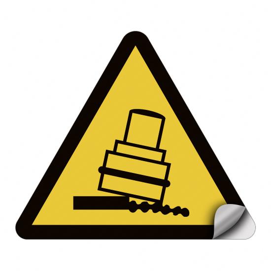 Warnung vor Kippgefahr beim Walzen D-W024