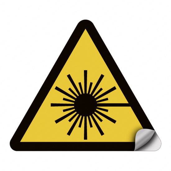 Warnung vor Laserstrahl W004