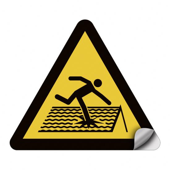 Warnung vor nicht durchtrittsicherem Dach W036