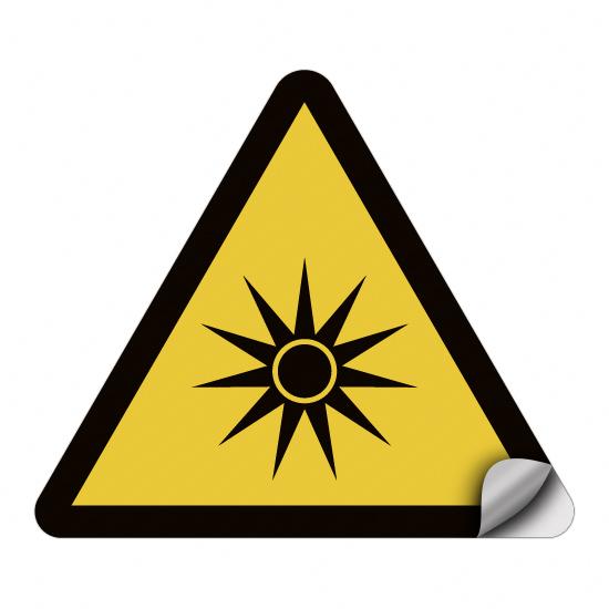 Warnung vor optischer Strahlung W027