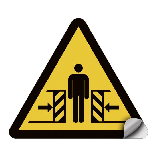 Warnung vor Quetschgefahr W019