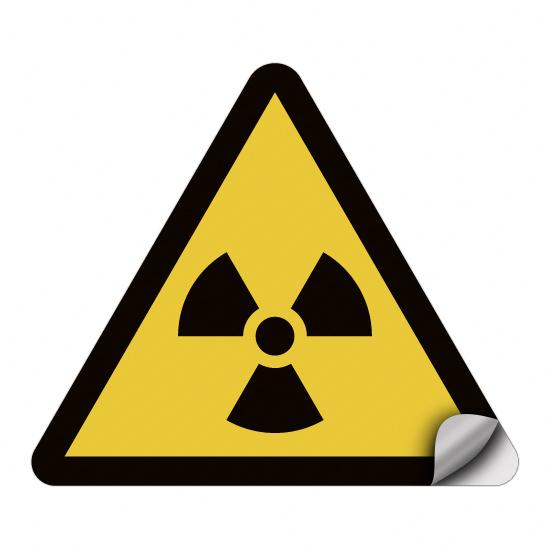 Warnung vor radioaktiven Stoffen oder ionisierender Strahlung W003