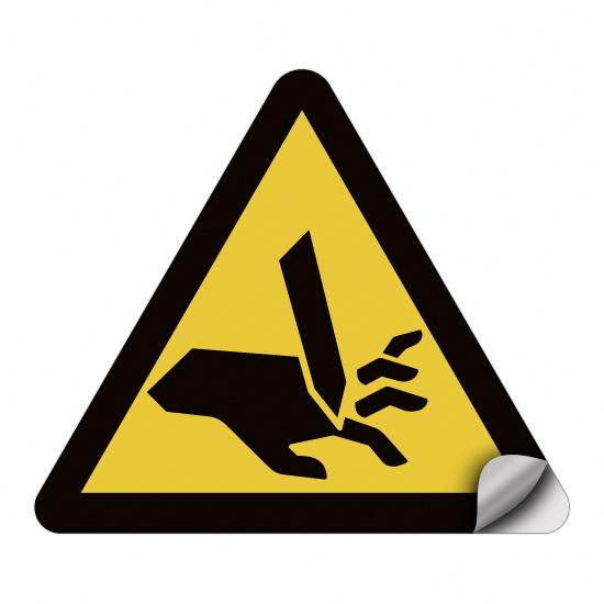 Warnung vor Schnittgefahr