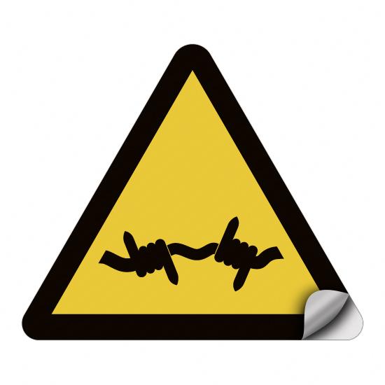 Warnung vor Stacheldraht W033