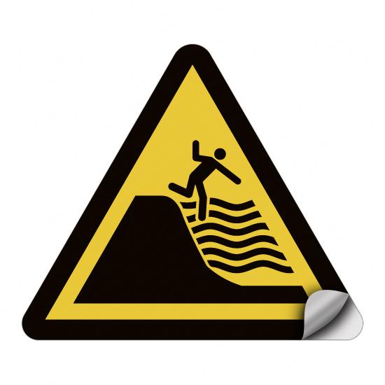 Warnung vor steil abfallendem Strand WSW024