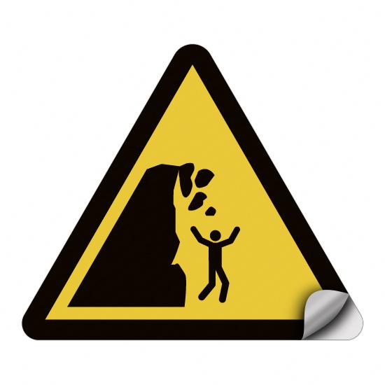 Warnung vor Steinschlag von instabiler Klippe WSW011