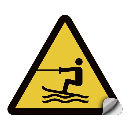 Warnung vor Wasserski-Bereich WSW003
