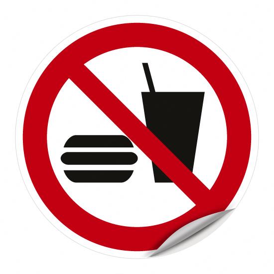 Essen und Trinken verboten P022