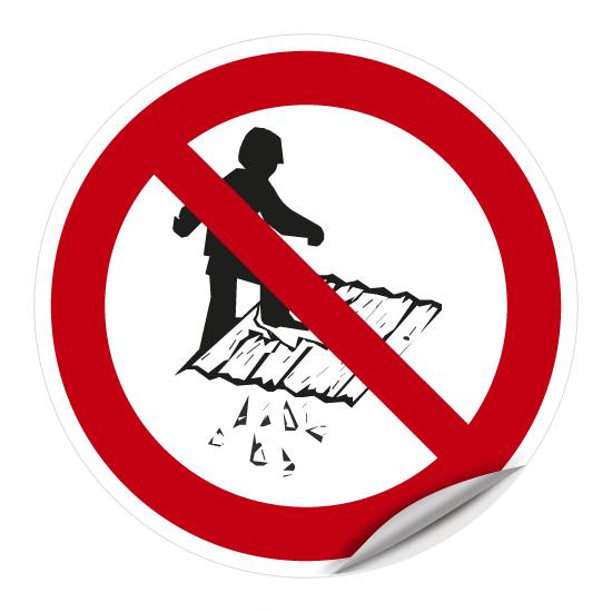 Fläche betreten verboten (nicht betretbare Fläche)