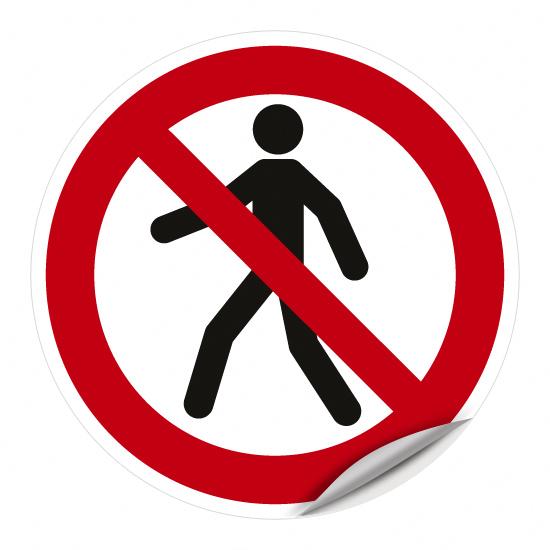 Für Fußgänger verboten P004