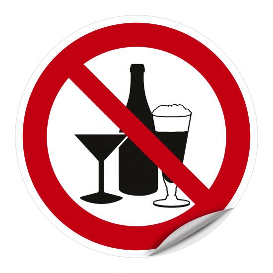 Genuss von Alkohol verboten