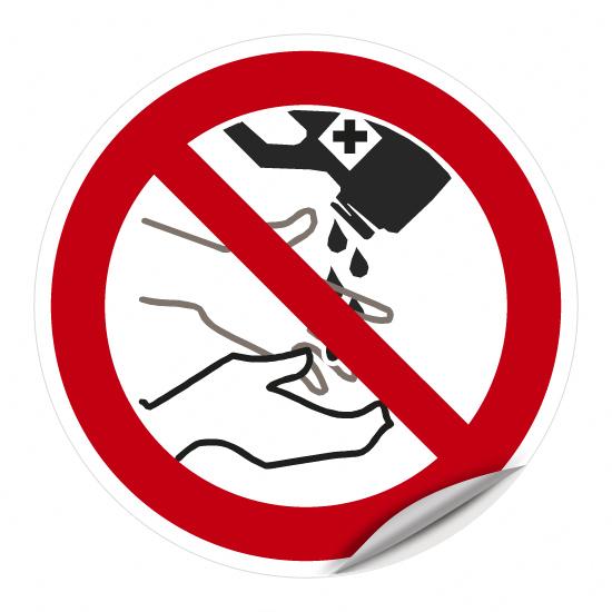 Händewaschen mit Lösemittel verboten