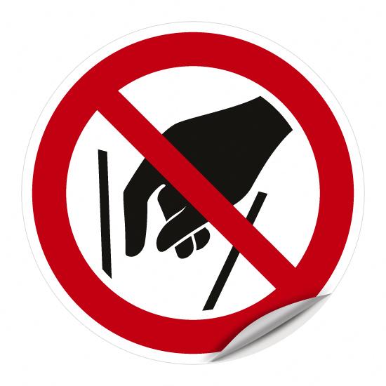 Hineinfassen verboten P015