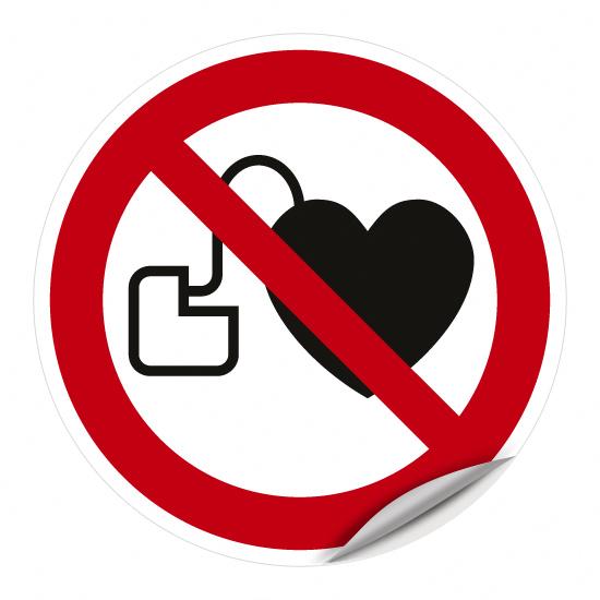 Kein Zutritt für Personen mit Herzschrittmachern oder implantierten Defibrillatoren P007