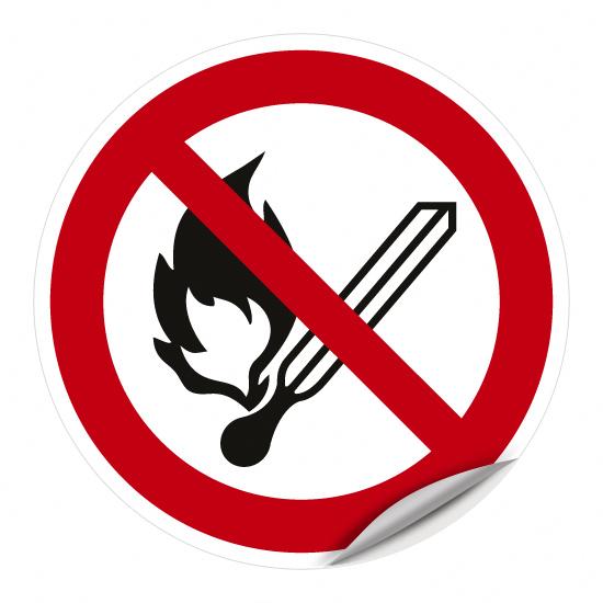 Keine offene Flamme; Feuer, offene Zündquelle und Rauchen verboten P003