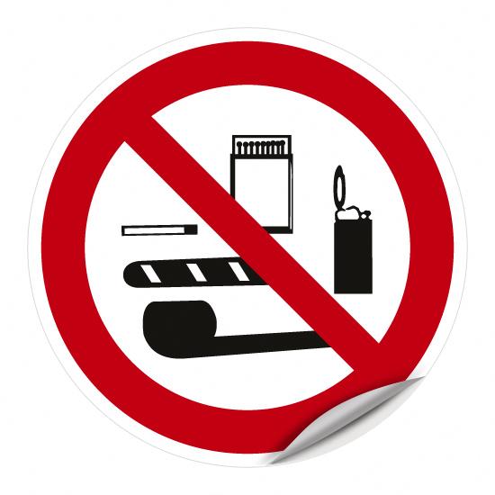 Mitnahme von Rauchwaren, Feuerzeugen und Zündhölzern verboten