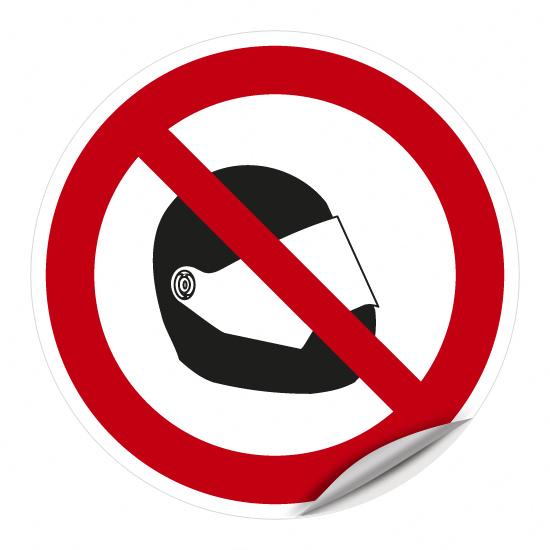 Motorrad-Schutzhelm tragen verboten