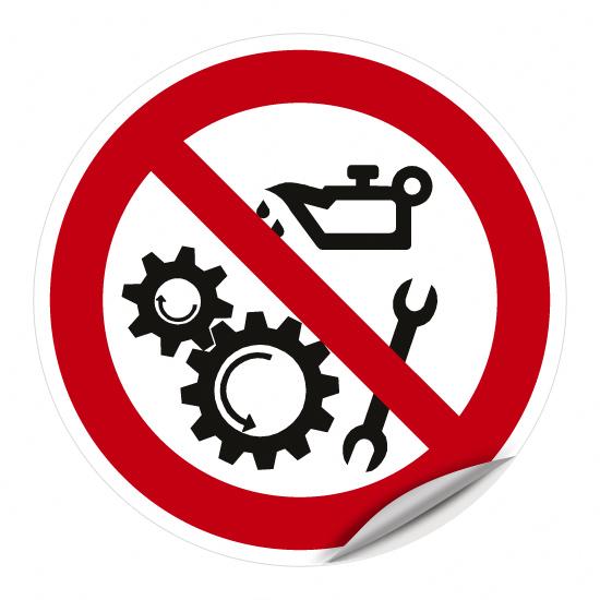 Ölen (Schmieren) verboten