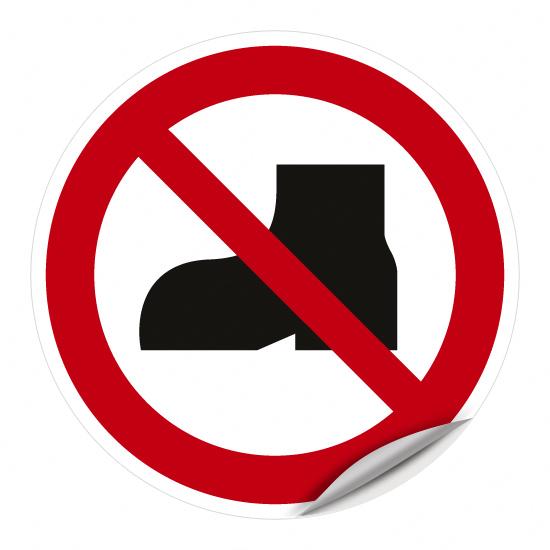 Tragen von Straßenschuhen verboten WSP013