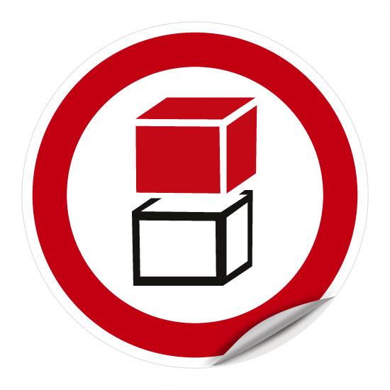 Übereinander stapeln verboten - 2. Vorschlag -